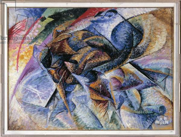 Dynamism of a Cyclist, 1913, oil on canvas