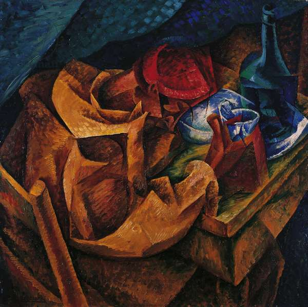 Drinker by Umberto Boccioni (1882-1916), oil on canvas, 86x87 cm, 1914