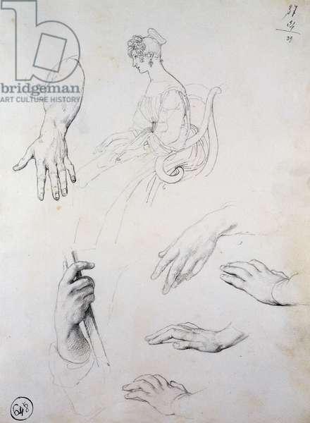 Study for Portrait of Cristina Trivulzio Belgiojoso