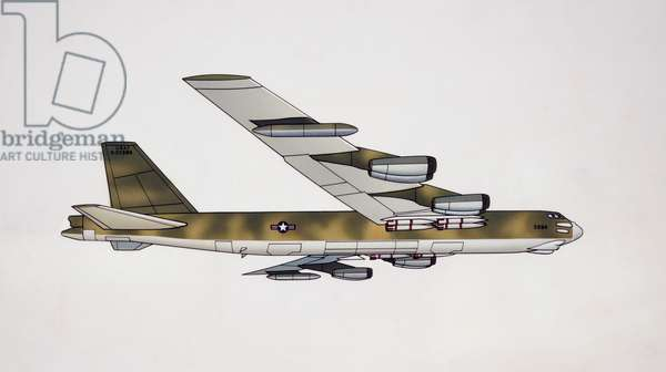 Boeing B-52 Stratofortress bomber, 1962, USA, drawing