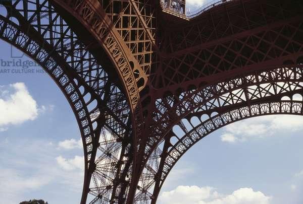 Glimpse of Eiffel Tower, 1889, Paris (UNESCO World Heritage List, 1991), Ile-de-France, France, 19th century, Detail