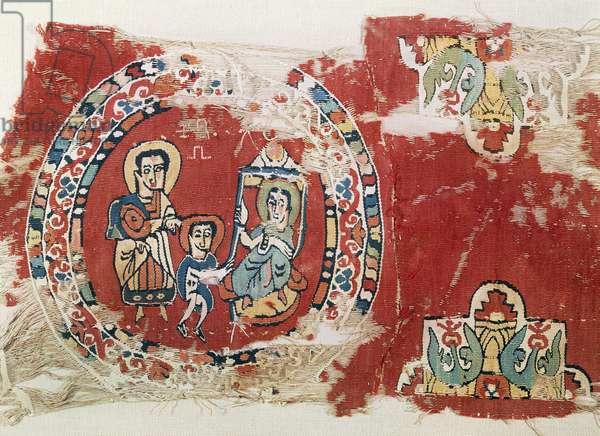 Adoration of Magi, fabric, Coptic Civilization, 8th century