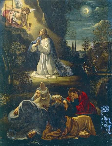 Jesus in garden, scene from Passion of Jesus by Giuseppe Cesari (1568-1640)