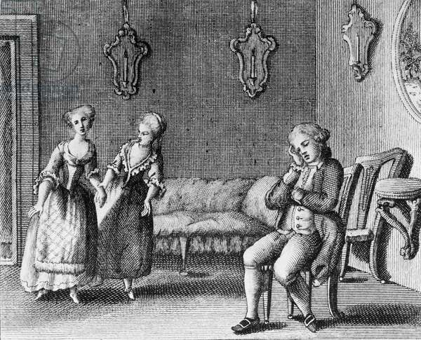 Illustration for Pamela nubile, comedy by Carlo Goldoni (1707-1793), engraving, from Opere teatrali del sig avvocato Carlo Goldoni veneziano, published by Antonio Zatta e figli, 1788, Venice