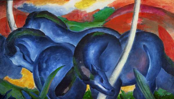 Big blue horses by Franz Marc (1880-1916), oil on canvas, 1911