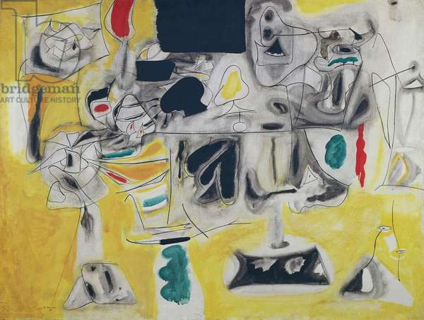 Landscape-Table, 1945, by Arshile Gorky (1904-1948), oil on canvas, 92x121 cm. United States of America, 20th century.