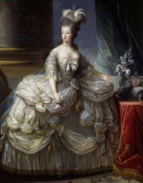 Portrait of Maria Antonia Josepha Johanna of Habsburg-Lorraine (1755-1793), 1779, Queen of France, oil on canvas, 223x158 cm, already attributed to Alexandre Roslin