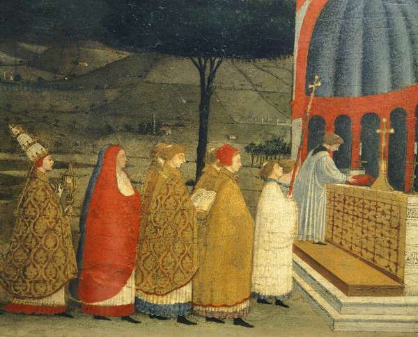 Predella of Miracle of Profaned Host by Paolo Uccello (1397-1475), detail