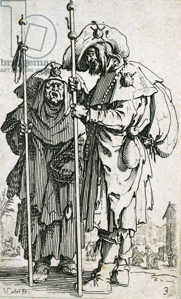 Beggars, by Jaques Callot (1592-1635), etching