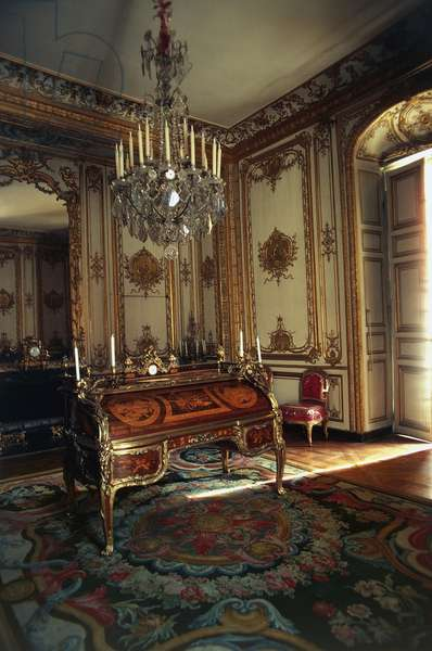 The cabinet in Louis XV Small apartments within Palace of Versailles , France