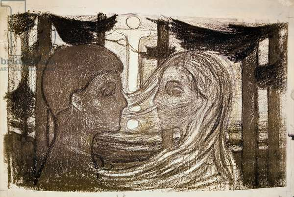 Attraction II, 1896, by Edvard Munch (1863-1944). Norway, 20th century.