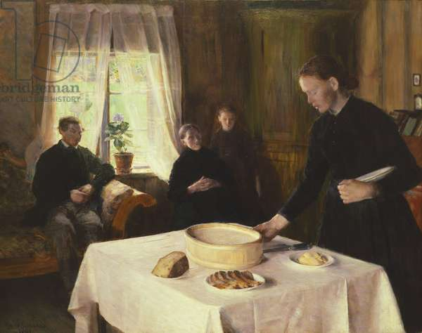 Laying the Table, 1891 (oil on canvas)