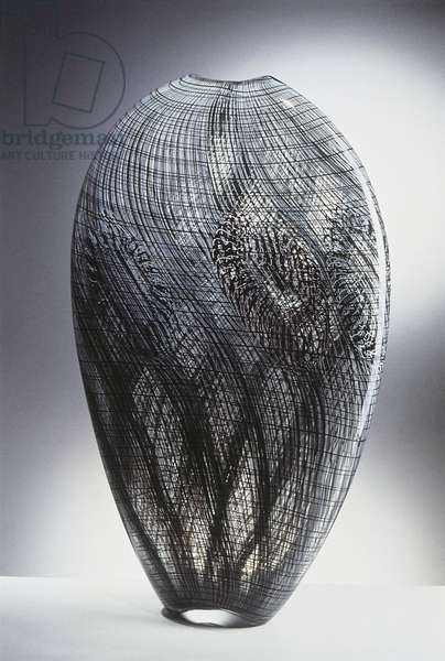 Close-up of a vase, Italy, 1988 (glass)