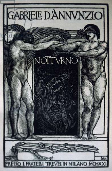 Title page of Nocturne, by Gabriele D'Annunzio (1863-1938), 1921