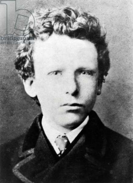 Vincent Van Gogh, aged about 13 (b/w photo)