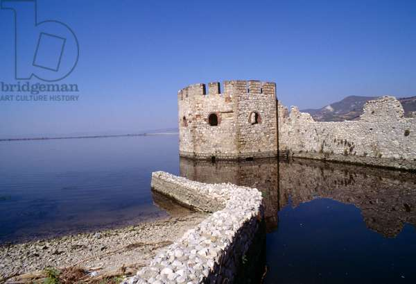 View of Golubac Fortress on Danube, Serbia, 14th century