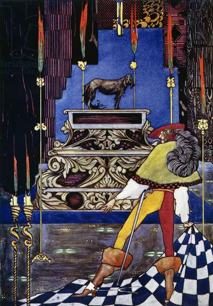 The tinderbox, fairy tale by Hans Christian Andersen (1805-1875), illustration by Harry Clarke (1890-1931)