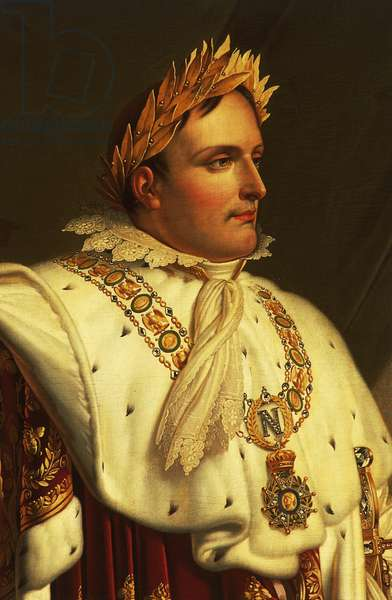 Portrait of Napoleon Bonaparte (Ajaccio, 1769-St Helena, 1821), oil painting by Anne-Louis Girodet de Roussy-Trioson (1767-1824), Detail