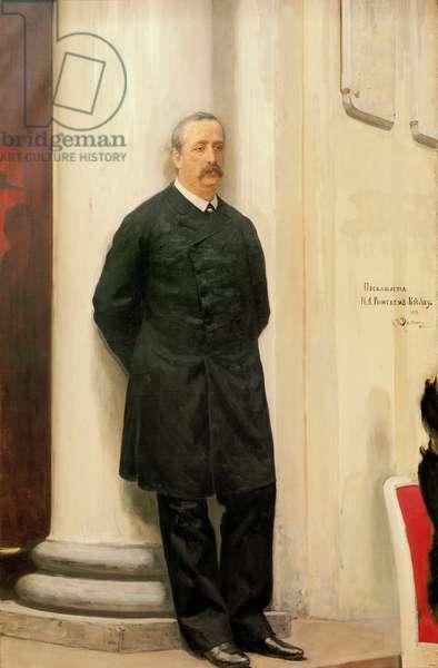Portrait of Alexander Borodin, 1888 (oil on canvas)