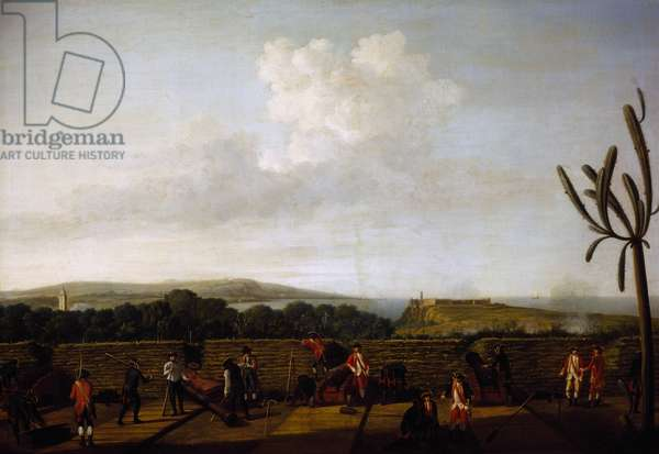 Artillery in front of Morro Castle, 1762, by Dominic Serres (1719-1793), oil on canvas, England, 18th century