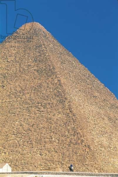 Egypt - Cairo - Ancient Memphis (UNESCO World Heritage List, 1979). Pyramids at Giza. Pyramid of Khufu (greek: Cheops)