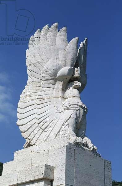 Italy, Lazio Region, Frosinone Province, Monte Cassino, Polish war cemetery, statue detail