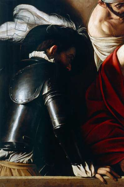 Man in armor, from The Crowning with Thorns, c.1603 (oil on canvas) (detail of 507206)