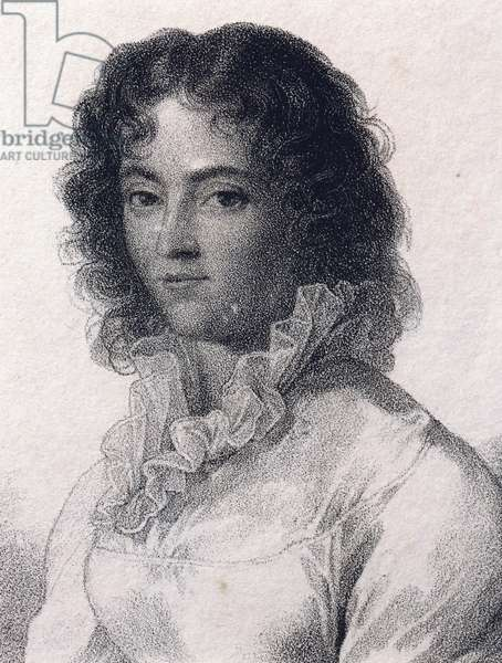 Portrait of Constanze Weber (Zell im Wiesental, 1762-Salzburg, 1842), wife of Wolfgang Amadeus Mozart (1756-1791)