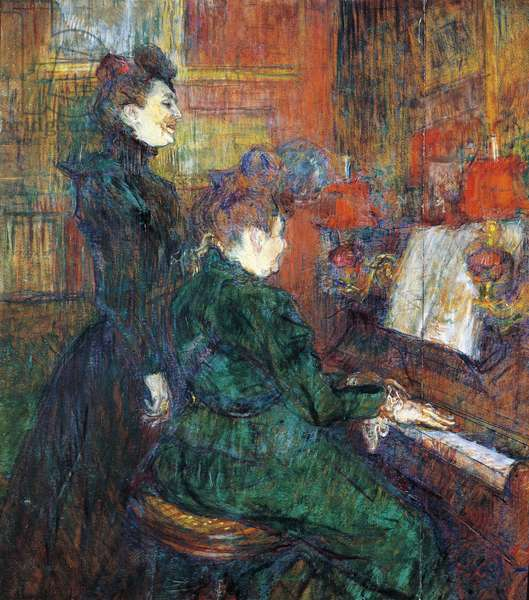 The Singing Lesson, by Henri de Toulouse Lautrec, oil on cardboard, 1864-1901, 71x81 cm