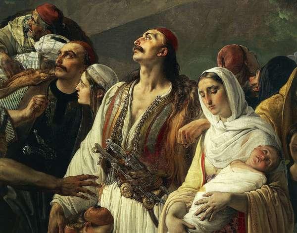 Refugees of Parga, 1826-1831, by Francesco Hayez (1791-1882), oil on canvas, 200x290 cm, Detail