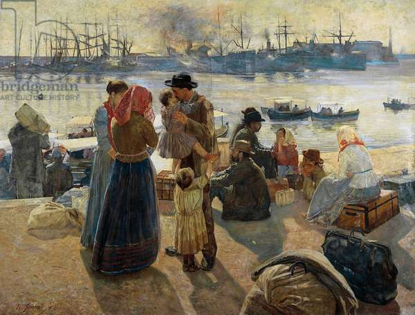 Emigrants, 1894 (oil on canvas)