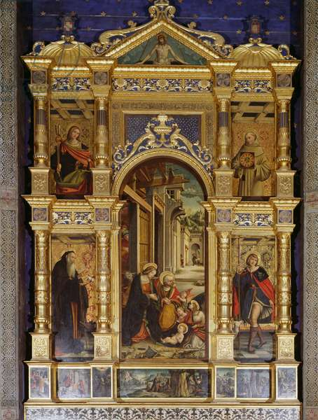 Nativity polyptych, 1511, by Defendente Ferrari (1480 or 1485-1540), Abbey of St Anthony of Ranverso, Buttigliera Alta, Piedmont, Italy, 16th century