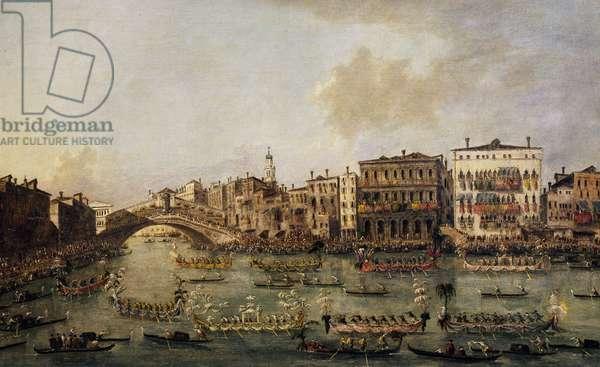 Regatta on the Grand Canal, by Francesco Guardi (1712-1793), oil on canvas.