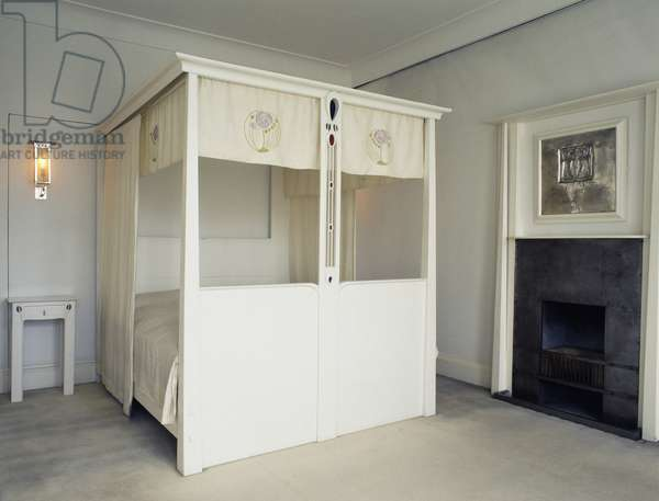 Four-poster bed, bedroom by Charles Rennie Mackintosh, United Kingdom, 20th century
