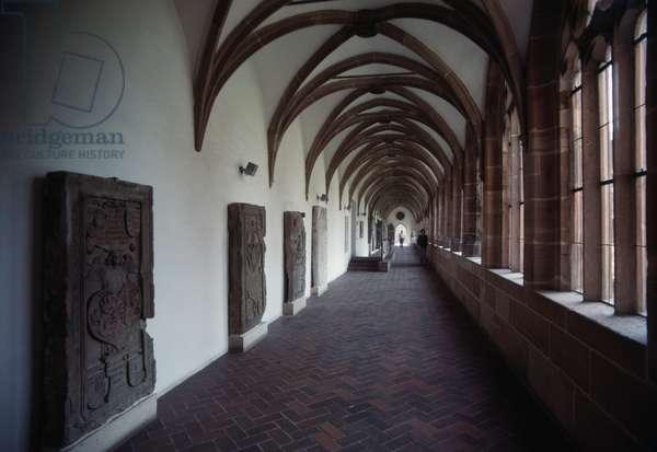 Cloister of former Carthusian monastery, today Germanisches Nationalmuseum, Nuremberg, Bavaria, Germany