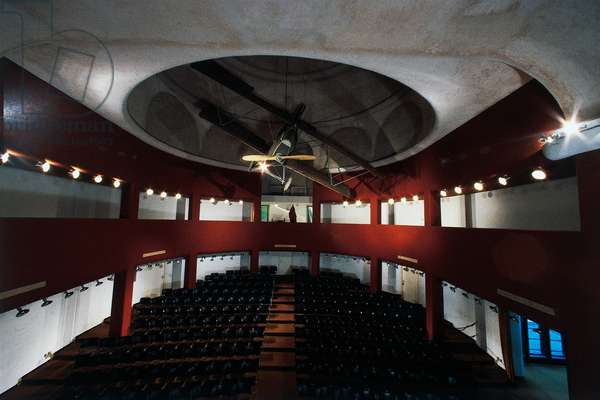 Auditorium of Schifamondo Palace, Under dome biplane Sva with which Gabriele d'Annunzio made flight over Vienna on August 9, 1918, Shrine of Italian Victories, 1921-1938, Gardone Riviera, Lombardy, Italy