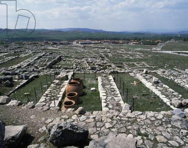 Warehouses of the temple devoted to the solar goddess Arinna, Hattusa (Bogazkoy), capital of the Hittite empire (Unesco World Heritage List, 1986), Turkey, Hittite civilization, 2nd millennium BC