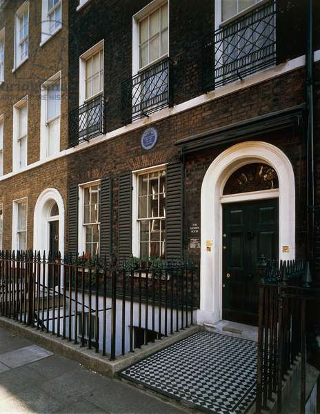 Charles Dickens' residence (1812-1870) in Doughty Street, London, England, United Kingdom