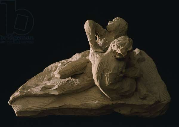 Cupid and Psyche by Antonio Canova (1757-1822), model in clay