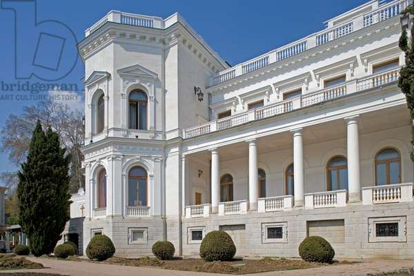 Livadia Palace (1909-1911), designed by Nikolay Krasnov, created as summer retreat for Tsar Nicholas II and served as the location for the Yalta Conference in 1945, Yalta, Crimea, Ukraine