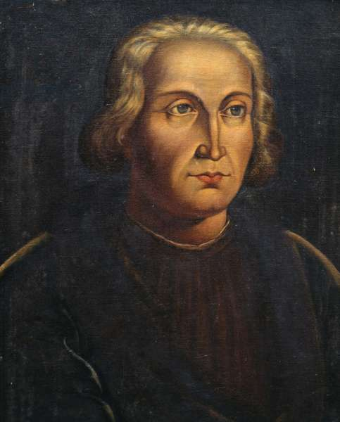 Portrait of Christopher Columbus (1451-1506), Italian explorer and navigator, 1930, painting
