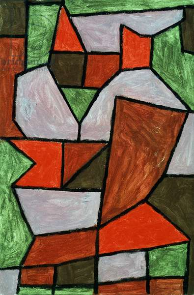 Double, 1940 (coloured paste on cardboard paper)