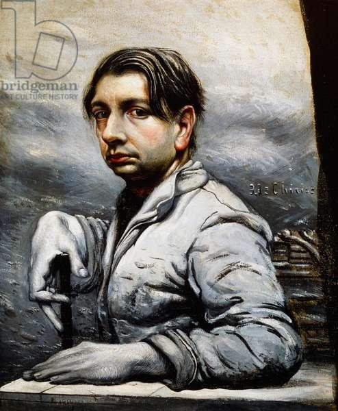 Self portrait, 1922, by Giorgio de Chirico (1888-1978), oil on canvas. Italy, 20th century.
