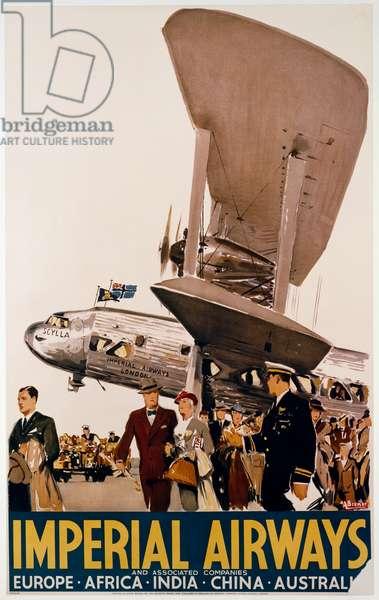 Imperial Airways, 1950, Poster by Albert Victor Eugene Brenet (1903-2005), 20th century