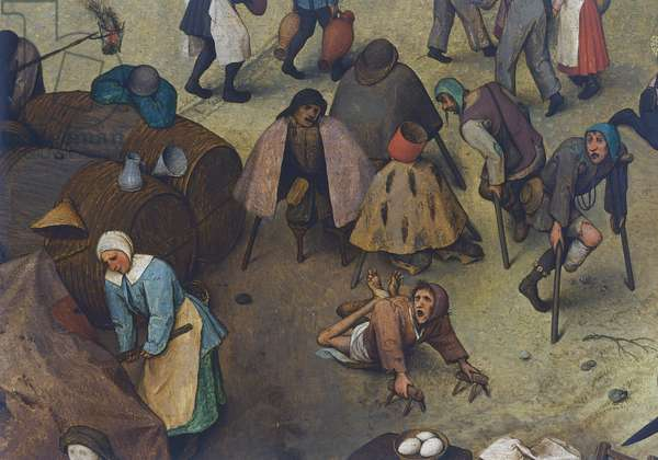 Fight between Carnival and Lent, 1559, detail (oil on panel)
