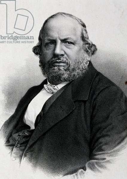 Portrait of Ferdinand Hiller (Frankfurt, 1811-Cologne, 1885), composer, Germany, 19th century
