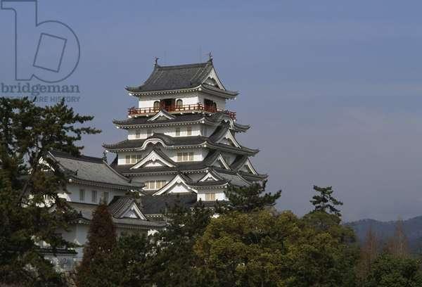Fukuyama Castle (also known as Hisamatsu Castle or Iyo Castle), 1622 rebuilt on 1966, Hiroshima prefecture, Japan