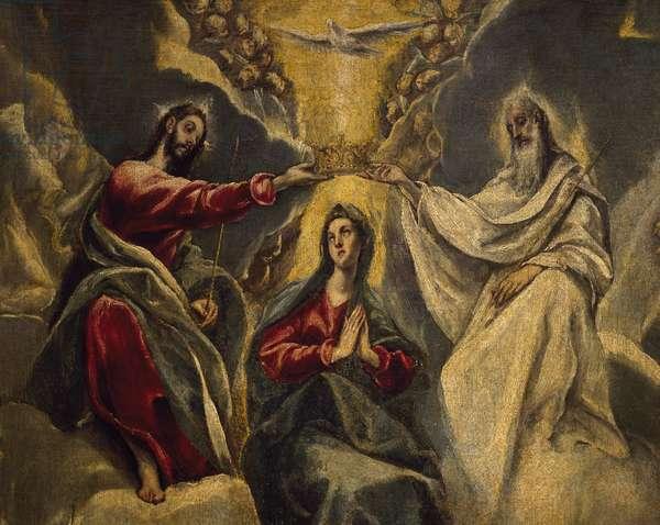 Coronation of Virgin, 1591, by El Greco (1541-1614), Detail