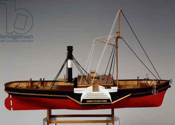 Model of Uncle Sam Steamboat, 1849, USA