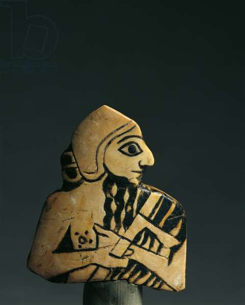 Male figure with inlay, Ur, 2nd Proto-Dynastic Period, 3rd millennium BC (bone & shell)